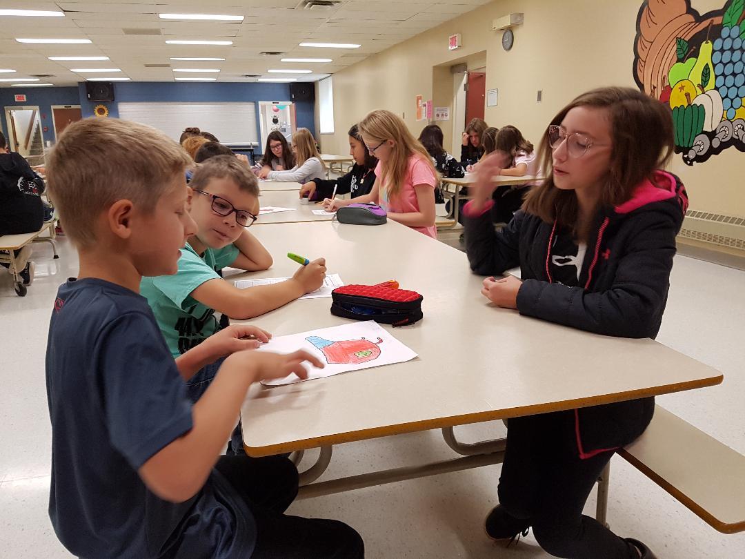 Projet d'écriture entre les élèves de 6e et de 2e année